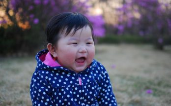 Girl Baby Korean Happy Laughing Smile Face