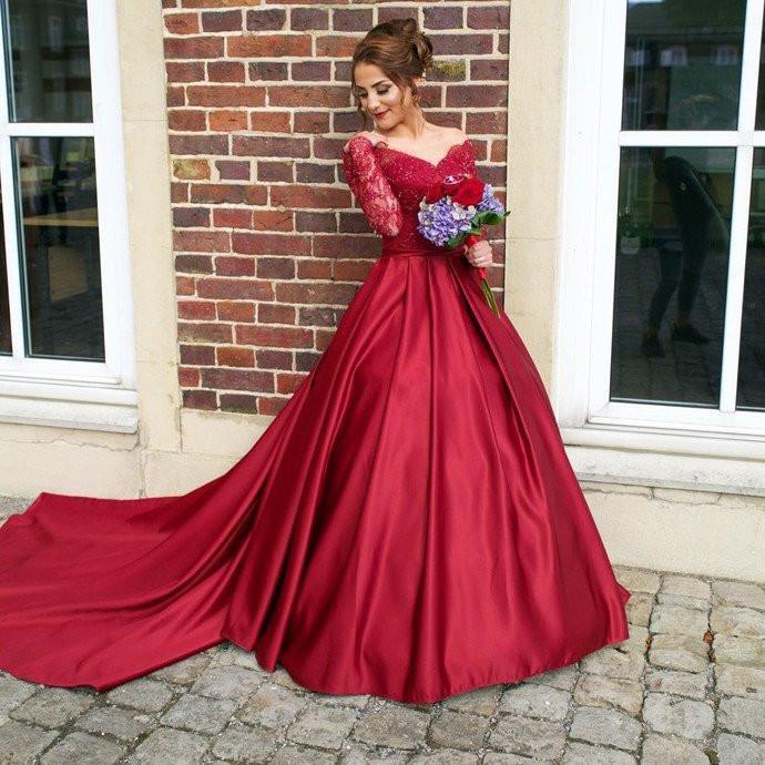 burgandy prom dresses